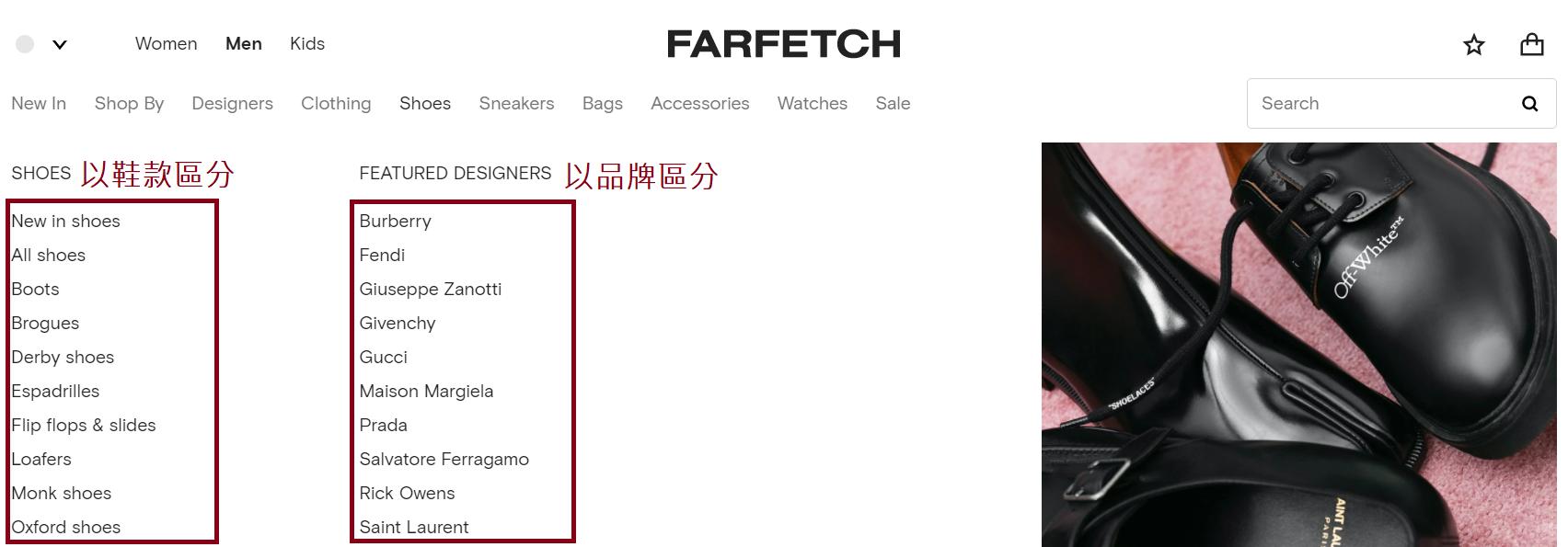 FARTETCH購買教學03-開始購物